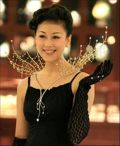 "Necklace | Designer ? ""Splendid Night"". 18K yellow gold and 456 natural pearls. 