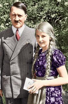 Adolf Hitler 4 color by EstelleNation on DeviantArt Georgia Country, Girls Ask, Berlin, The Third Reich, Military History, World War Ii, Wwii, Vintage Photos, Germany