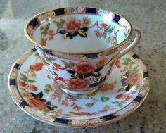 Vintage Consul Bridgwood England Tea Cup and Saucer Set Pattern 2534