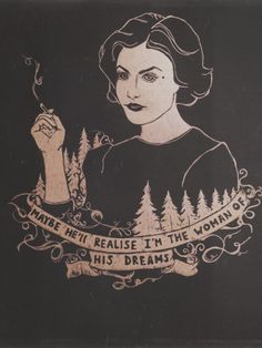 • drawing Illustration art trees gold tv series Twin Peaks artists on tumblr agent cooper Laura Palmer Audrey Horne black paper Sherylin Fenn prcrstln •