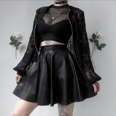 ♡・˚ Kibbi Pixel ( Adrette Outfits, Gothic Outfits, Grunge Outfits, Cute Casual Outfits, Fashion Outfits, Goth Girl Outfits, Egirl Fashion, Gothic Fashion, Aesthetic Grunge Outfit