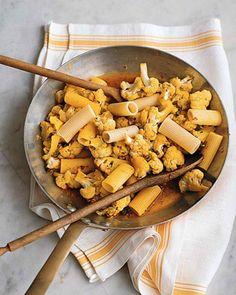 with cauliflower saffron and raisins rigatoni with cauliflower saffron ...