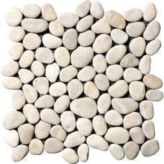 Shower Floor? Zoomed: Marble Systems 10-Pack 12-in x 12-in Tan Pebbles Natural Stone Wall Tile