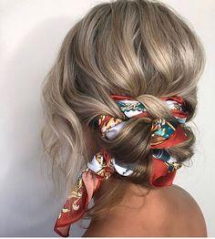 süße Frisuren - All For Colors Hair Braided Bun Hairstyles, Easy Hairstyles For Long Hair, Braids For Long Hair, Scarf Hairstyles, Pretty Hairstyles, Hairstyle Ideas, Sweet Hairstyles, Latest Hairstyles, Hair Updo
