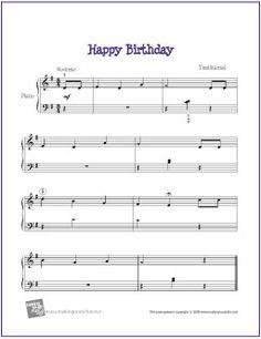 Happy Birthday   Free Sheet Music for Easy Piano - http://makingmusicfun.net/htm/f_printit_free_printable_sheet_music/happy-birthday-easy-piano.htm (Scheduled via TrafficWonker.com)