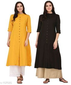 Kurtis & Kurtas Multicolored Cotton Kurti (Combo of 2)  *Fabric* Cotton  *Sleeves* Sleeves Are Included  *Size* XS, S, M, L, XL, XXL, 3XL,4XL ( Refer Size Chart For Details )  *Type* Stitched  *Description* It Has Combo of 2 Kurti  *Pattern* Solid  *Sizes Available* XS, S, M, L, XL, XXL, XXXL, 4XL *    Catalog Name: Solid Cotton Kurtis CatalogID_10640 C74-SC1001 Code: 949-107580-