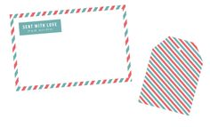 """Sent With Love"" striped label with a matching patterned tag! Perfect for snail mailing! FREE"