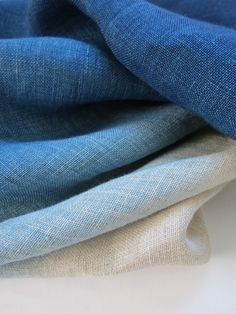 dyed linen ~ shades of blue                                                                                                                                                                                 More