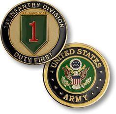 THIS ITEM CAN ONLY BE SHIPPED TO U.S. LOCATIONS The 1st Infantry Division commemorative coin salutes the bravery and courage of all soldiers who displayed such valor under the most extreme combat cond