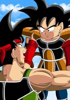 This is a fanart with Bardock and his son Kakarott. The poses are from a picture with Son-Goku and Son-Goten. Words of comfort - Bardock and Kakarott Goku Father, Father And Son, Son Goku, Dragon Ball Z, Akira, Goku Drawing, Hero Movie, Illustrations, Anime Guys