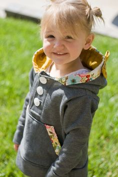 Little girl's bow hoodie