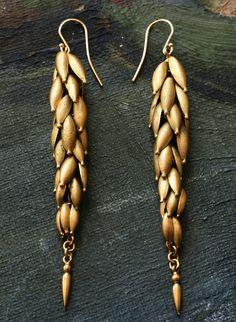 1830s Pinchbeck Seed Pod Drop Earrings, Source: Erie Basin