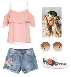 """""""summer outfit!!!"""" by dorothygabrielledelacruz on Polyvore featuring BB Dakota, Gucci, Chloé and Emily Rose Flower Crowns"""