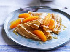 Louise Fulton Keats Wholemeal crepes with warm maple oranges recipe