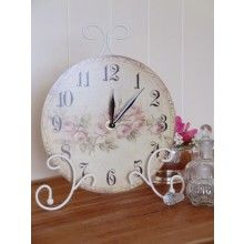 Freestanding Shabby Chic Roses Clock €15.50 www.dressmyhome.ie