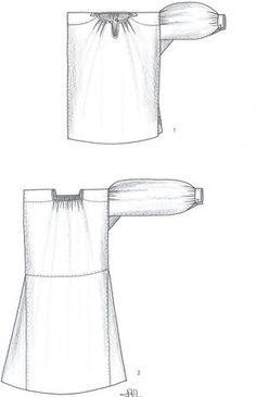 Ilust. 3 : Prototipos de camisas femeninas en este periodo: 1 De manga ...