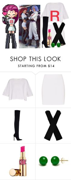 """""""Jessie"""" by chibiblue ❤ liked on Polyvore featuring Helmut Lang, Zara, Yves Saint Laurent and Pori"""
