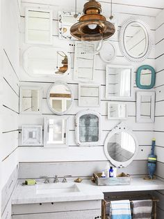 Mirror(s), Mirror(s) on the Wall! #bathroom #hgtvmagazine http://www.hgtv.com/decorating-basics/cool-calm-and-collected-decorating/pictures/page-20.html?soc-pinterest