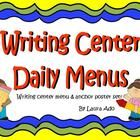 Daily Writing Center menu/ideas for each day of the week!    My students LOVE going to writing centers now! $