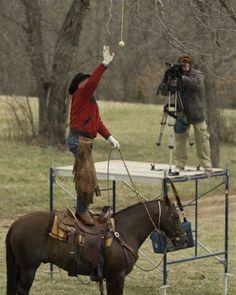 Hit the Tennis Ball - Extreme Cowboy Race