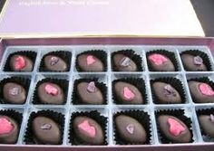 Rose and Violet Creams.  Love to put the kids to bed, then nibble these with a good book.