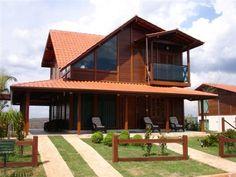 Modelo colorado : Casas campestres por Bragança Casas de Madeira e Alvenaria estrutural