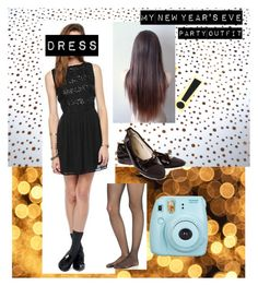 """""""The exact dress I wore on New Year's Eve"""" by ginaisanerd ❤ liked on Polyvore featuring Chanel, Wolford and Fujifilm"""