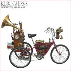 Created by Roger Wood of Klockwerks, it was made for a show involving kinetic sculptures, and its safe to say that his Steampunk bike was the most eye-catching piece in the room.
