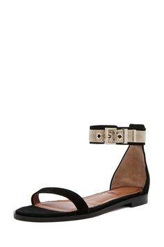 12514e2b5f6 Shop for Givenchy Robertha Suede Chain Sandal in Black at FWRD.