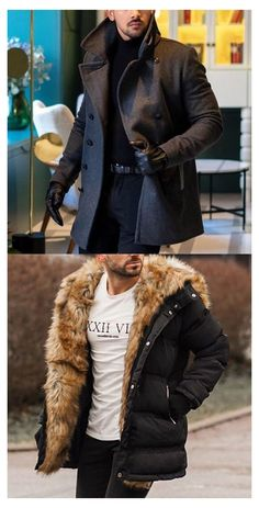 Designer Suits For Men, Casual Wear For Men, Business Casual Men, Winter Hoodies, Men's Coats And Jackets, Mens Fashion, Fashion Outfits, Men Looks, Mens Clothing Styles