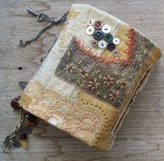 Isn't this a lovely idea for the cover of a special journal or memory book? This is a hand sewing project that wouldn't take too long. From hidden treasures - Media - Quilting Daily