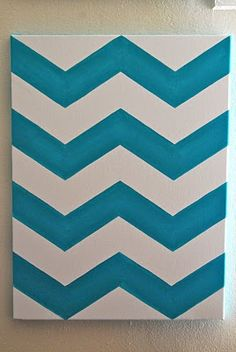 How to space and draw out Chevron print on canvas by: Jake and Tobi