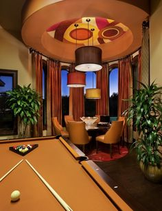 Cool ceiling and light idea poker table would look amazing u.- Cool ceiling and light idea poker table would look amazing under this, Cool ceiling and light idea poker table would look amazing under this, - Game Room Design, Family Room Design, Diy Design, Design Ideas, Design Homes, House Design, Pool Table Room, Pool Tables, Spanish Modern