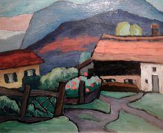 Farmhouses; Gabriele Münter