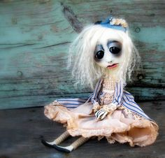 Gothic Art Doll Ooak Halloween Decoration Yvette by loopyboopy, $275.00