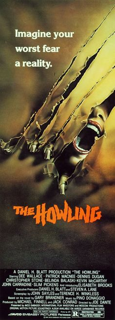 """The Howling (1981) - """"Beyond anything human."""" - - Promotional materials, advertisements, and horror movie prints"""