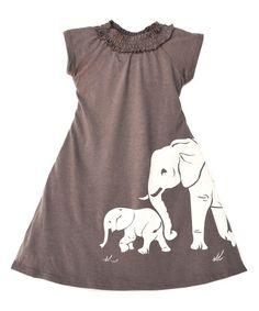 Taupe Elephant Dress - Toddler #zulily #zulilyfinds