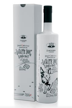 White Dog - Package design made for Kozuba & Sons micro distillery.