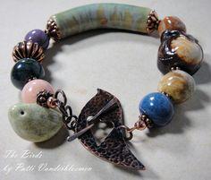 The Birds  Artisan Beaded Bracelet by PattiVanderbloemen on Etsy