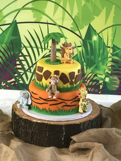 Harry Birthday, Wild One Birthday Party, Safari Birthday Party, Baby Party, Jungle Theme Parties, Safari Theme Party, Jungle Party, Second Birthday Ideas, First Birthday Themes