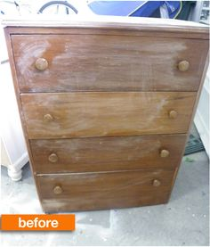Before & After: Bright Stenciled DresserSaved by Suzy