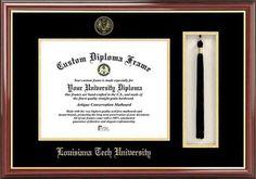 Louisiana La Tech Diploma Frame and Tassel Box