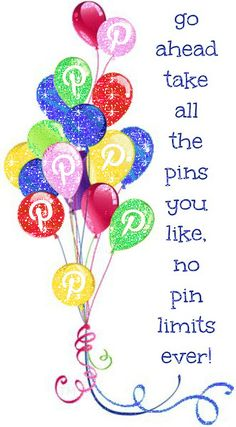 Go ahead take all the pins you like. I have No Pin Limits on my Pinterest boards <3 Tam <3