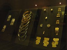 Monte Alban Tomb 7 Gold Jewelry In The Santo Domingo Convent And Monastery Oaxaca Mexico.