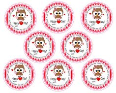 Printable Kids Valentine Tags  Owl-ways Be by Pinkowlpartydesign