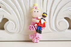 Ballerina Holding Nutcracker Ornament by melaniescrafts on Etsy https://www.etsy.com/listing/114199772/ballerina-holding-nutcracker-ornament