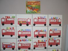 Fire Safety Alphabet Rescue Book {by Audrey Wood and Bruce Wood} and Activity.
