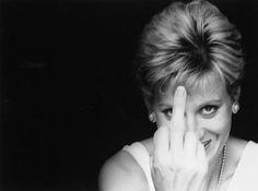 Princess Diana, flipping the bird....lol