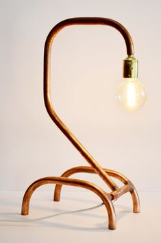 Lámpara de cobre modelo What por Amorporladecoracion en Etsy