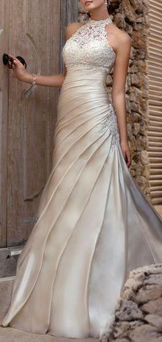 Lace Halter Gown ♥ L.O.V.E.